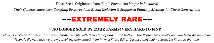 Izmir Poppy Seeds Izmir Farms